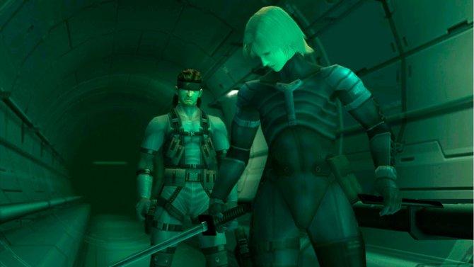 Gipfeltreffen der Helden aus Metal Gear Solid 2: Solid Snake und Raiden.