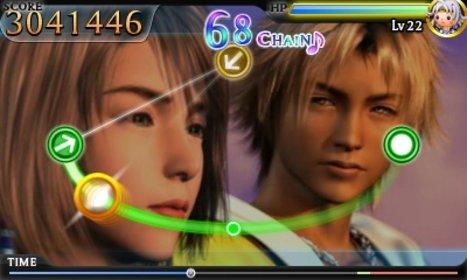 Diese Szene dürfte Liebhabern von Final Fantasy 10 bekannt vorkommen. In Theatrhythm Final Fantasy erlebt ihr sie neu.