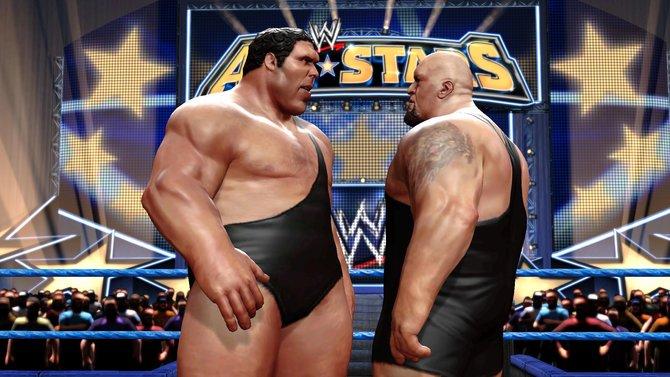 An Andrés Masse kommt nicht einmal Big Show heran(Links). Wer diese Pranken (Mitte) ins Gesicht bekommt ...