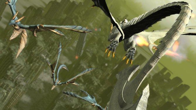 In Drakengard 3 erwarten euch neben Bodeneinsätzen auch wieder Luftkämpfe.