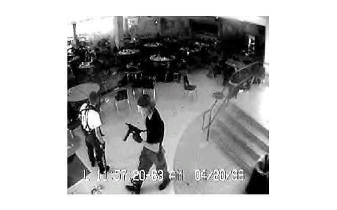Das erste Bild zeigt Eric Harris und Dylan Klebold, die Amokläufer von ...