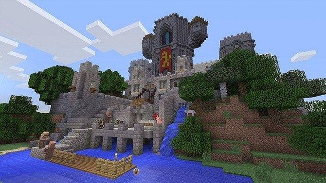 Mit den Blöcken baut ihr kleine Festungen ...