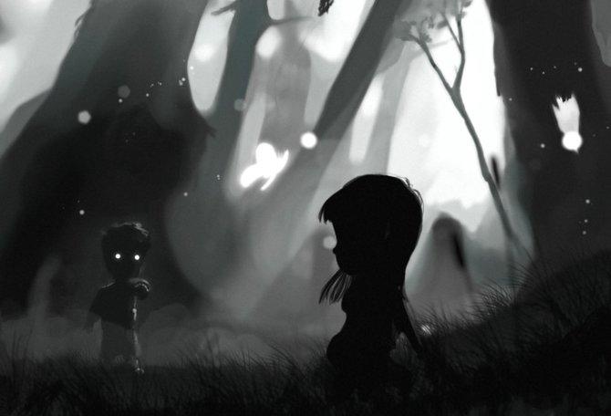 Der kleine Junge ist auf der Suche nach seiner Schwester.