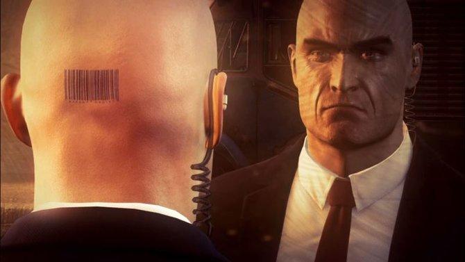 Agent 47 hat am Hinterkopf einen Barcode tätowiert.
