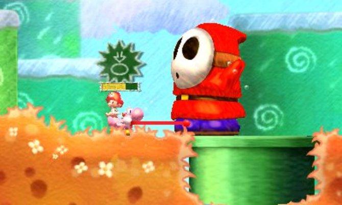 Auf seiner Reise begegnet Yoshi manch einem Riesengegner.