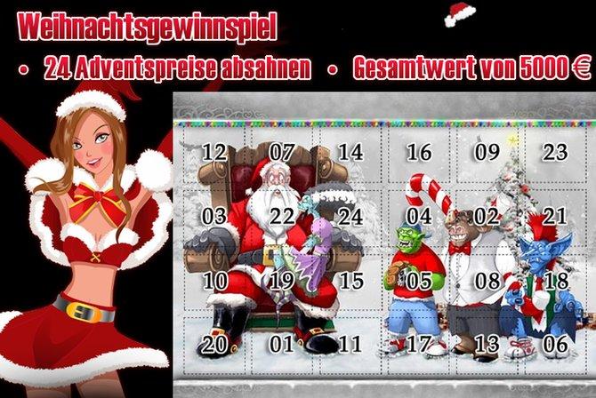 Beim großen Weihnachtsgewinnspiel von MMOGA bekommt ihr die Chance Preise im Wert von insgesamt 5.000 Euro abzusahnen.