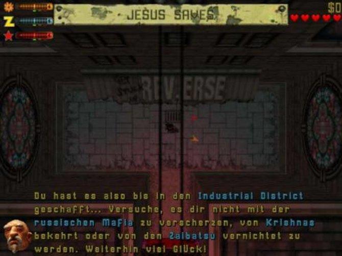 """In Kirchen konnte man unter dem Motto """"Jesus saves"""" ..."""