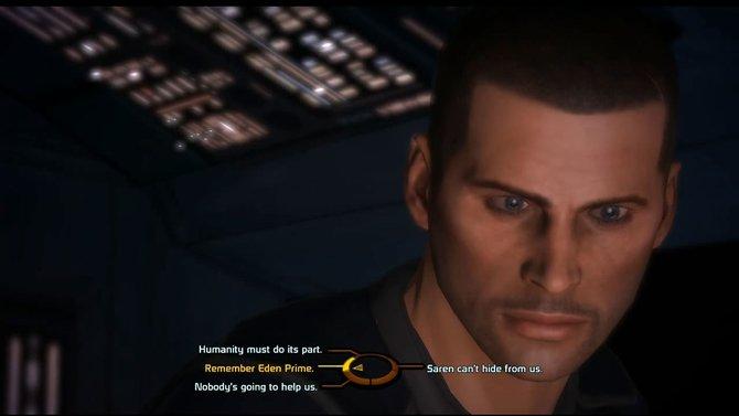 Bei seiner Antrittsrede als Kommandant stellt Shepard die Dinge klar ...