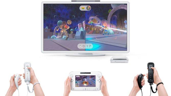 Auch bei mehreren Spielern unterstützt Wii U die Wii-Remote und das ...
