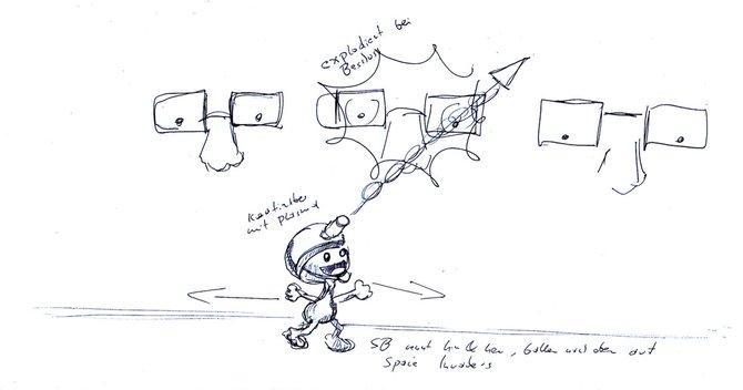 Das grundlegende Konzept als Skizze hilft, im Wust der Editormöglichkeiten nicht den ...