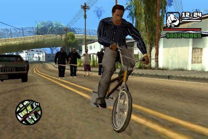 In GTA San Andreas gibt es viel Fahrzeuge, wie zum Beispiel ein Fahrrad.