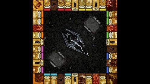 Das Skyrim-Monopoly ist aufgebaut wie die Standard-Version des Brettspiels, allerdings mit angepassten Namen und Feldern.