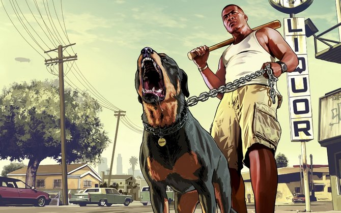 Franklin und sein Rottweiler Chop verstehen kein Spaß.