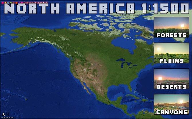 Der Bastler Lentebriesje hat es sich zum Ziel gesetzt, den Planeten Erde in Minecraft nachzubauen. Natürlich gehört auch Nordamerika dazu.