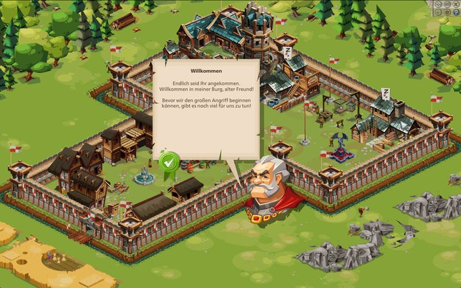 Die Einführungsphase in Goodgame Empire erklärt euch alle wichtigen Funktionen des Spiels.