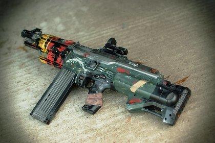 Die Brink-Nerf-Gun in ihrer vollen Pracht.