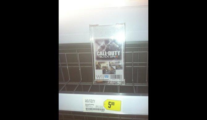 Die angebliche Vorverkaufspackung von Black Ops 2 für Wii U.