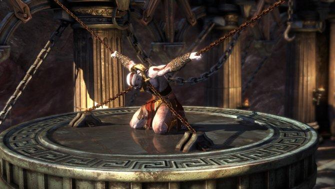 Kratos beginnt sein neues Abenteuer in einer misslichen Lage.