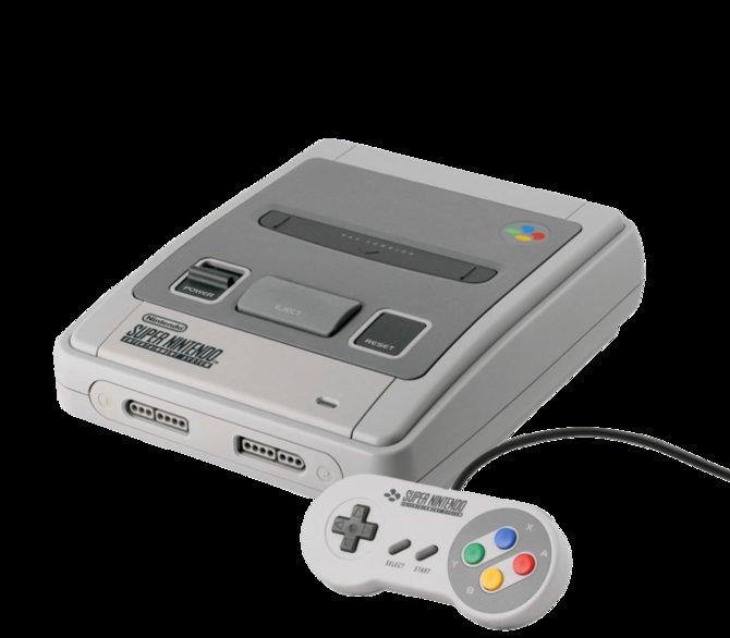 So sieht das Super Nintendo in Europa aus, als es 1992 dort auf den Markt kommt. Das Super Famicom von 1990 unterscheidet sich äußerlich nur durch einen entsprechenden Schriftzug.