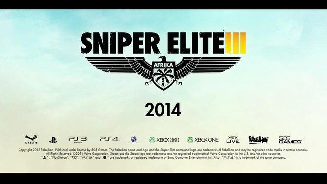 Sniper Elite 3 ist geplant für Playstation 3, Playstation 4, Xbox One, Xbox 360 und PC.