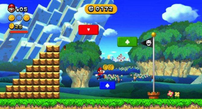 Mit New Super Mario Bros. U erlebt Mario sein erstes Abenteuer in HD.