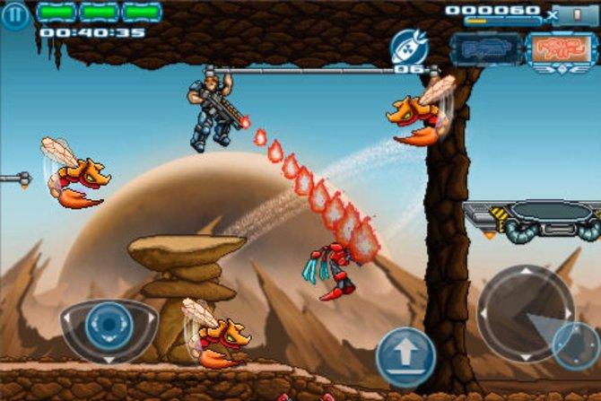 Die klassische Bildschirm-Action erinnert an Metal Slug und Contra.�