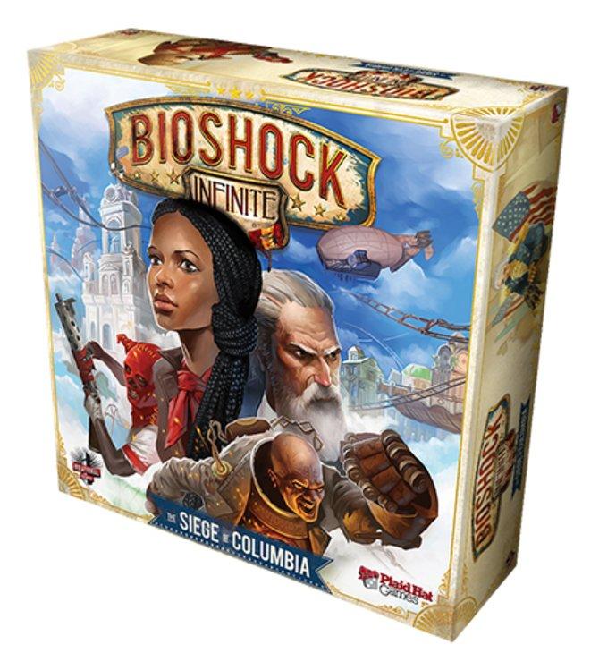 Hier seht ihr die Verpackung des Brettspiels Bioshock Infinite - The Siege of Columbia.