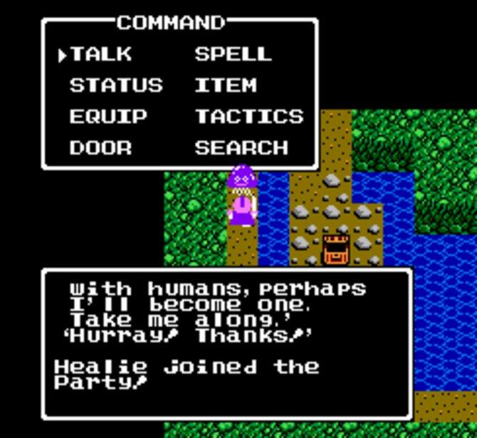 Das erste freundliche Monster? Bei Dragon Quest 4 begleitet euch Heilschleim Healie.