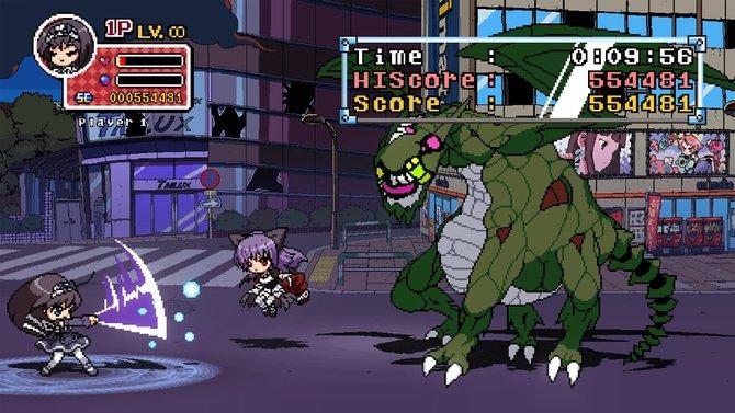 Phantom Breaker Battlegrounds setzt auf große Pixel.