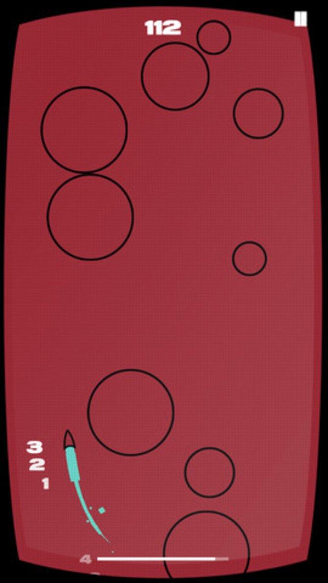 Die Level von Rhythm Rocket verändern sich je nach Musikstück.