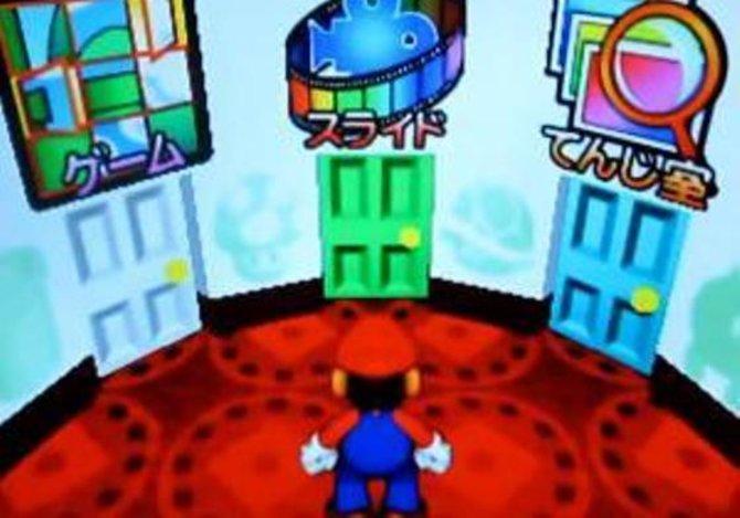 In Mario no Photopi bewegt ihr Mario nur in diesem Optionsmenü. Geradeaus geht's zum Filmdreh.