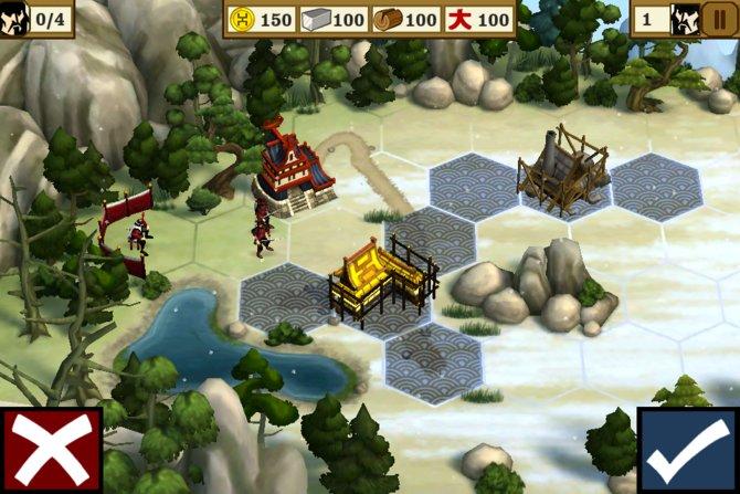 Bevor die Schlacht losgeht, errichtet ihr untereinander verbundene Gebäude.