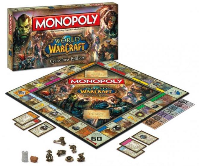 So sieht die Verpackung und das Spielbrett der World-of-Warcraft-Version von Monopoly aus.