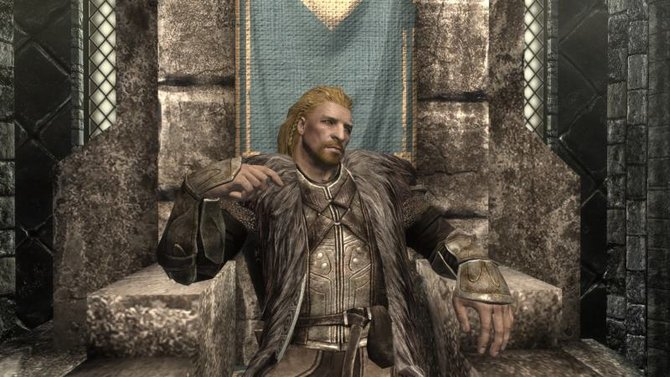 Ulfric sitzt auf dem Thron in Windhelm.