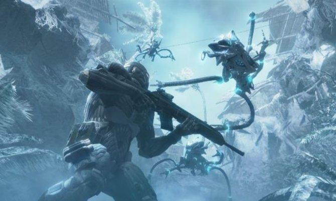 In Crysis (Links) stellen wir uns ebenso dem Kampf gegen ...