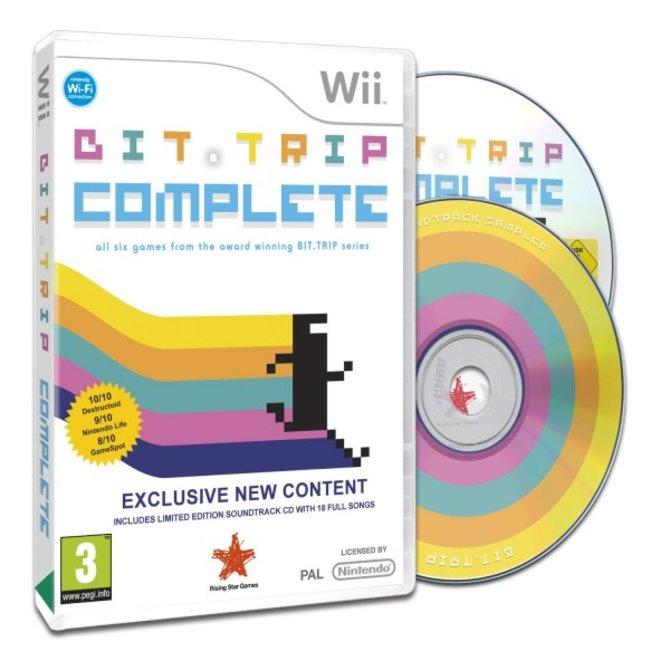 Die Wii-Fassung von Bit.Trip Complete kostet etwa bei Amazon nur 23 Euro und es liegt eine Musik-CD bei. Die Spieldauer der CD beträgt etwa 70 Minuten und umfasst ...