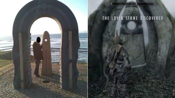 Dieses Bauwerk sieht dem Liebendenstein in Skyrim zum Verwechseln ähnlich.