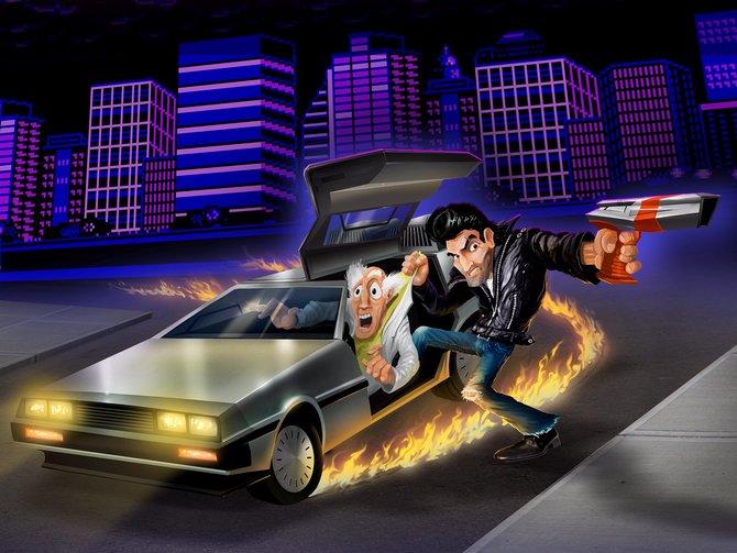 Ist das etwa Doc Brown? In Retro City Rampage ist niemand vor euch sicher.