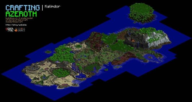 Der erste Kontinent von World of Warcraft wurde für Minecraft nachgebaut.