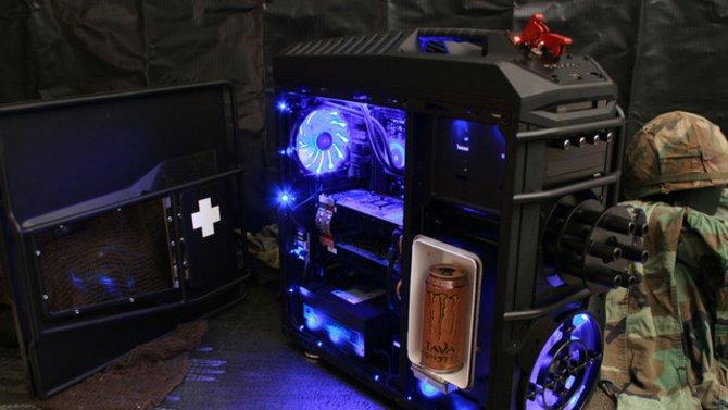 Hier seht ihr das PC-Gehäuse im Battlefield-3-Stil.