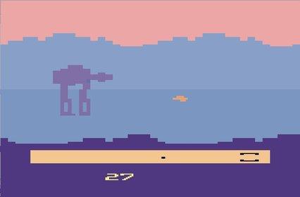 Ja, ehrlich, so sah das erste Videospiel im Star-Wars-Universum aus. 1982 kam es auf den Markt und heißt Empire Strikes Back.