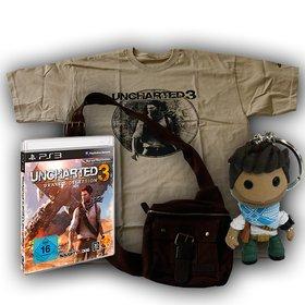 Als Hauptgewinn gibt es heute Uncharted 3 für die PS3. Dazu eine Nachbildung von Nathan Drakes Umhängetaschen, ein T-Shirt und einen Schlüsselanhänger.