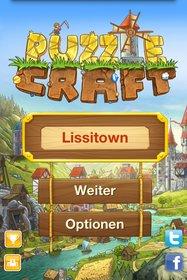 Puzzle Craft empfängt euch mit bunter Märchengrafik.