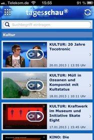 Die App der Tagesschau liefert nicht nur neueste Nachrichten, sondern auch zahlreiche Videos.