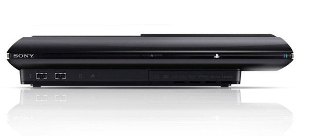 Die neue PS3 in der Front-Ansicht.