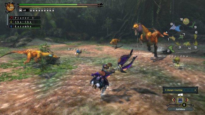 Im Kampf gegen einen Großvroggi. Dieses Monster gab es in Monster Hunter Tri noch nicht.