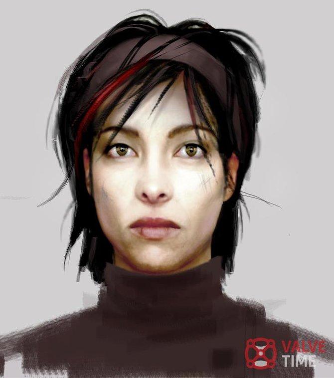 Die meisten der Konzeptzeichnungen zeigen eine Figur aus dem Spiel.