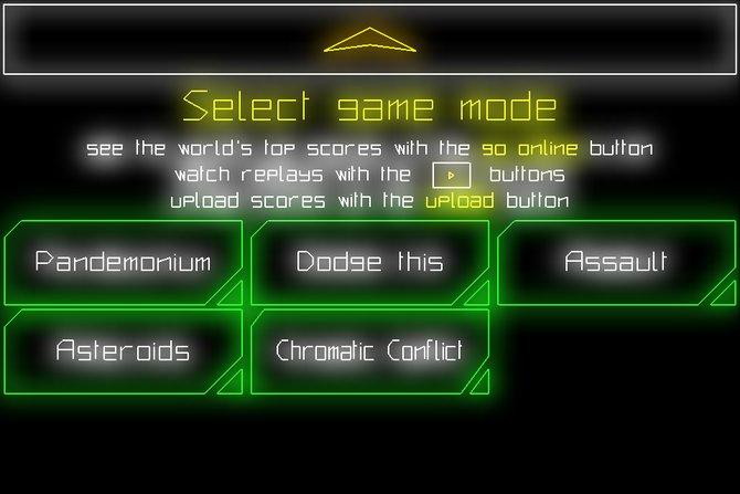 Pew Pew wartet mit gleich fünf verschiedenen Spielarten auf.