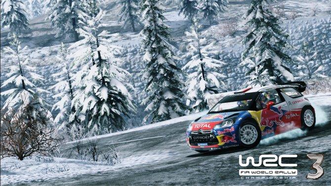In WRC 3 geht es bei jeder Witterung auf die Piste. Bei Schnee ...