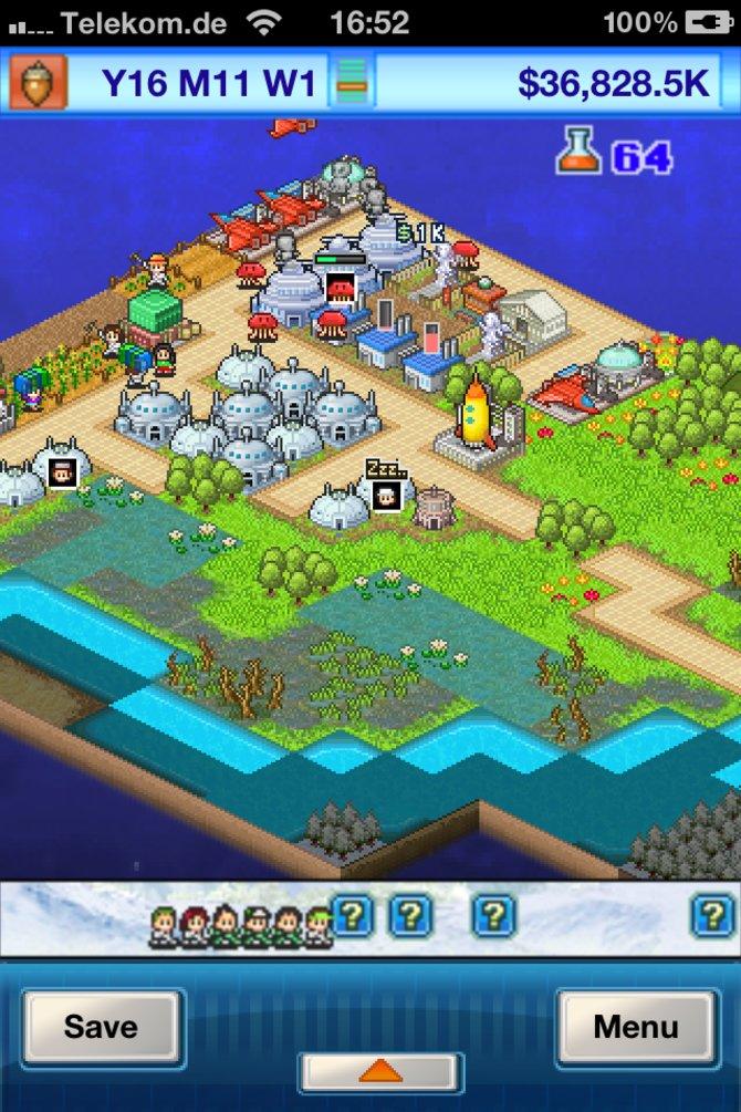 Nach einiger Spielzeit entsteht eine hübsche Siedlung.